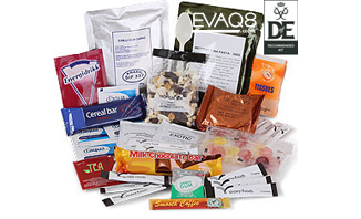 Day Ration Pack MRE Operations Food 3000 Kcal| genuine military style MRE 'meal-ready-to-eat' Food, nutritious, delicious and easy to use | MRE info from EVAQ8 the UK's Emergency Preparedness specialist