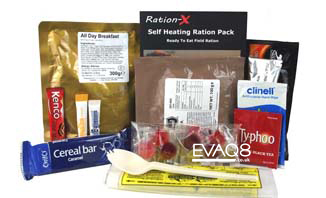 Ration-X MRE | genuine military style MRE 'meal-ready-to-eat' Food, nutritious, delicious and easy to use | MRE info from EVAQ8 the UK's Emergency Preparedness specialist
